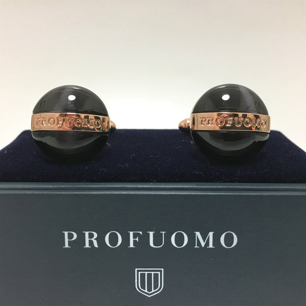 Profuomo name engraved across the rose gold band