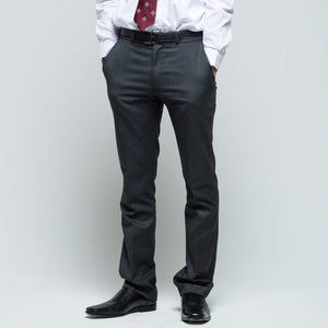 David Luke Slim Fit Black School Trousers