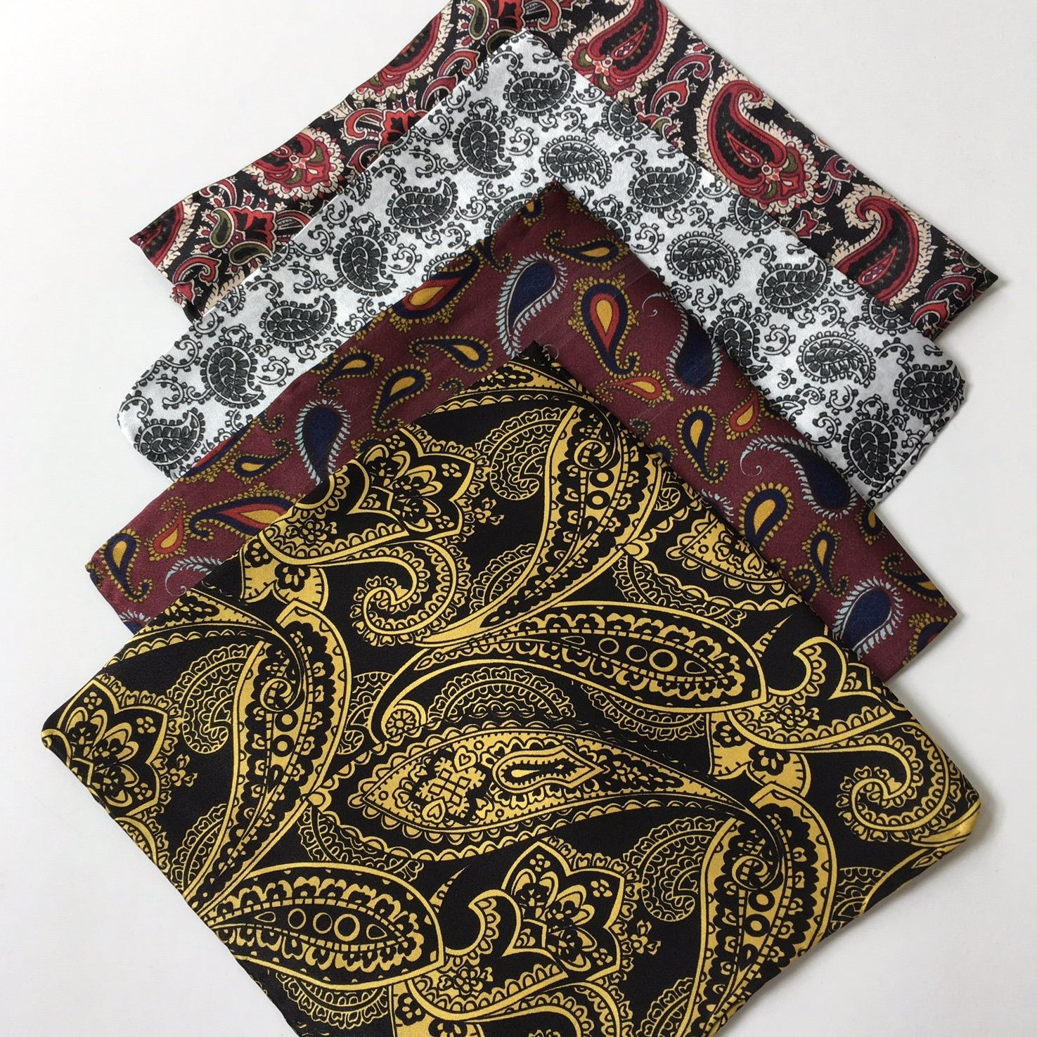 Range of paisley pocket squares
