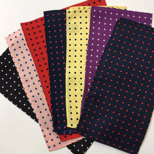 Colour range of Silk Polka Dot Pocket Squares