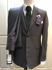 The Label 'Esteem' 3-Piece Silver Grey Sharkskin Suit