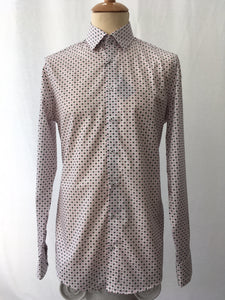 Venti Modern Fit Dot Print Shirt