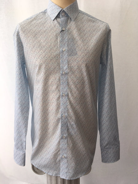 Venti Modern Fit Ship Print Shirt
