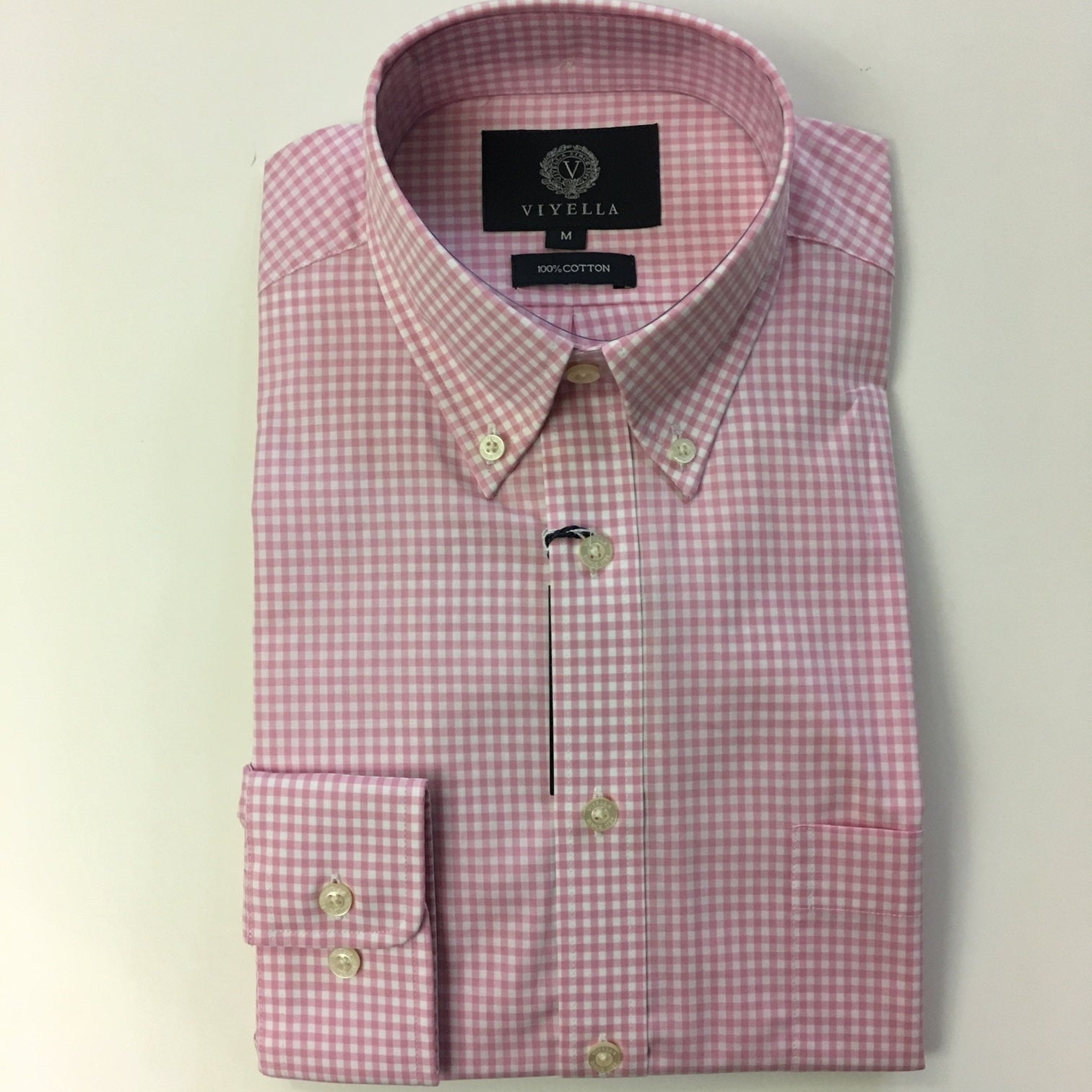 Viyella Pink Gingham Button Down Shirt