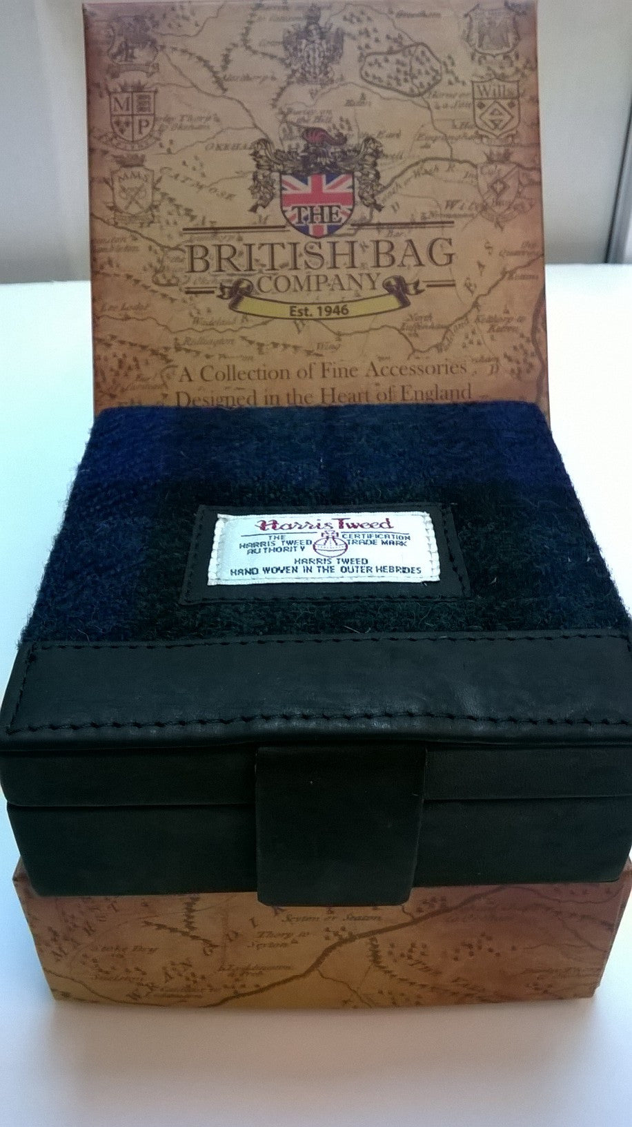 Harris Tweed Cufflink Box