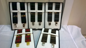 Assorted Tartan Clip On Braces