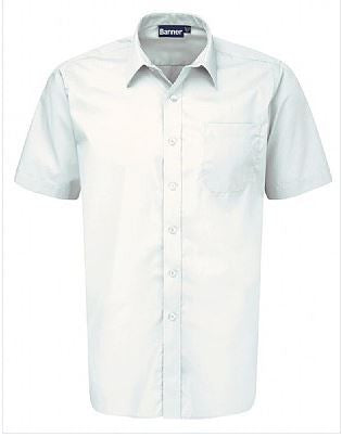 Twin Pack of Boys White School Shirts