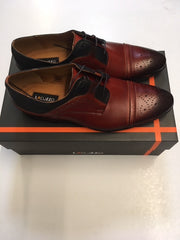 Lacuzzo Ox Blood and Black Two tone Brogue