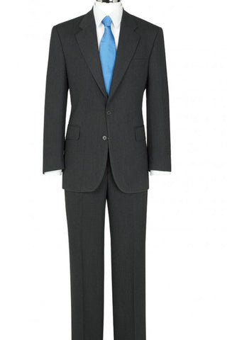 The Label 2-Piece Charcoal Herringbone Suit