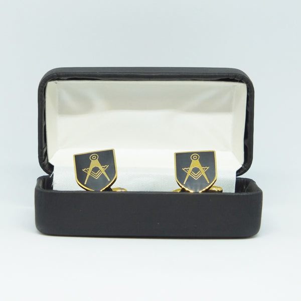 Masonic Cufflinks in snap-shut box