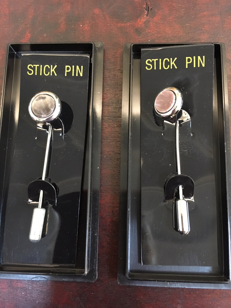 Shiny Rhodium Stick Pin