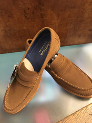 Chatham 'Mcqueen' Tan Suede Slip-On