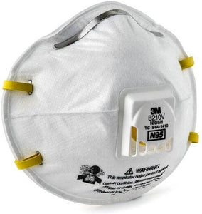 Face Mask - 3M N95 Model 8210V - 160 Masks - NIOSH Approved