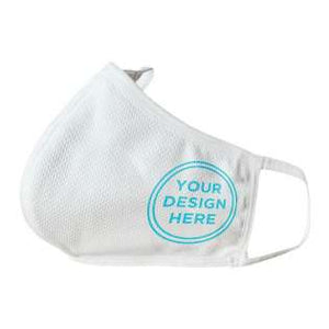 Custom Printed Stylish White Face Masks with soft, elastic Ear Straps (with your photo or logo) - perfect for businesses or associations