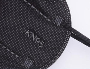 Face Mask - Black KN95 Disposable Face Mask With Earloops - High Filtration - 1 Mask - $1 Each