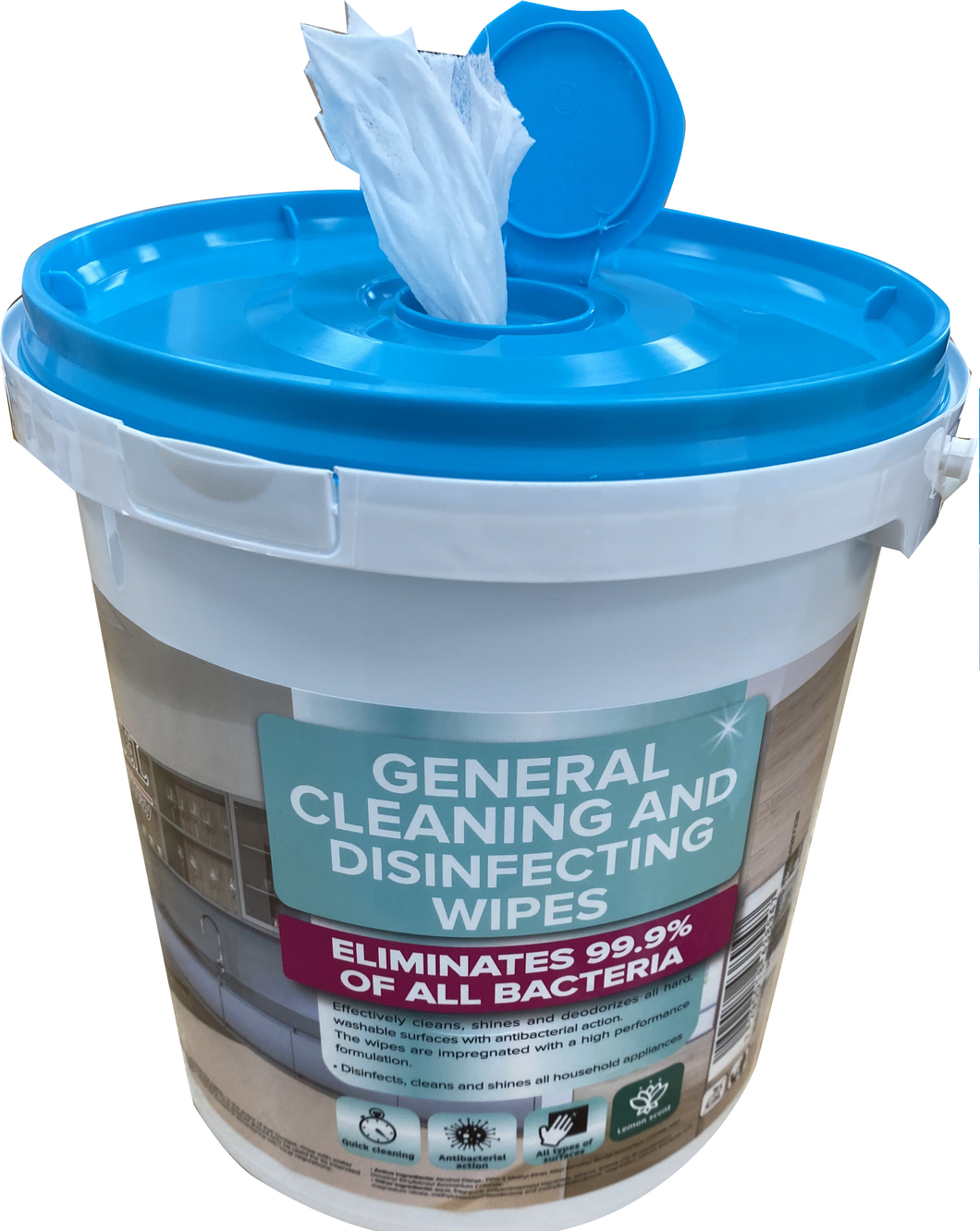 Vega/Carmel - 400 Disinfecting wipes - 1 bucket of 400 wipes