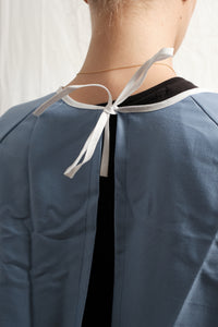 Isolation gown - BLUE - re-usable - 100% cotton - free shipping - FDA Level 1