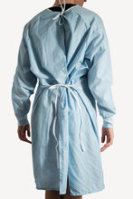 Load image into Gallery viewer, Isolation gown - BLUE - re-usable - cotton / poly mix - free shipping - FDA Level 2