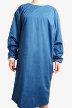 Load image into Gallery viewer, Isolation gown - DARK BLUE - re-usable - cotton / poly mix - free shipping - FDA Level 2