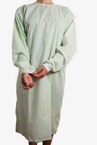 Isolation gown - MINT - re-usable - cotton / poly mix - free shipping - FDA Level 2