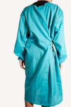 Load image into Gallery viewer, Isolation gown - Turquoise - re-usable - cotton / poly mix - free shipping - FDA Level 2