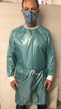 Load image into Gallery viewer, Isolation gown - 100% waterproof- washable and re-usable - RipStop Nylon - free shipping - FDA Level 4