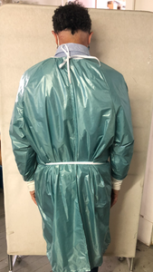 Isolation gown - 100% waterproof- washable and re-usable - RipStop Nylon - free shipping - FDA Level 4