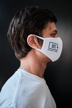 Load image into Gallery viewer, Custom Printed Stylish White Face Masks with soft, elastic Ear Straps (with your photo or logo) - perfect for businesses or associations