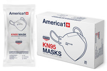 Load image into Gallery viewer, Face Mask - US Made KN95 Mask - Box Of 20 - $1.5 Each - Single Wrapped