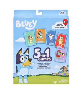 CARD GAME - BLUEY 5 IN 1