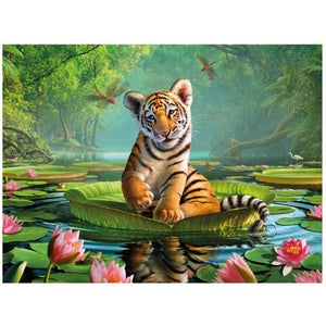 3D TIGER LILLY PICTURE / PLACEMAT