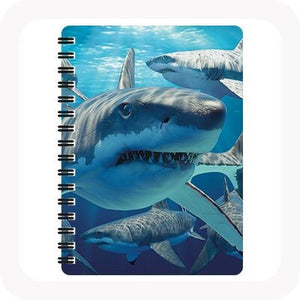 3D GREAT WHITE SHARK NOTEBOOK