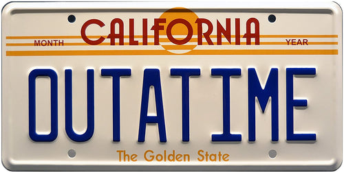 Back to the Future Licence Plate