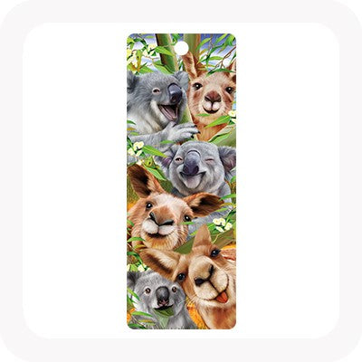 3D KOALA AND KANGAROO SELFIE BOOKMARK