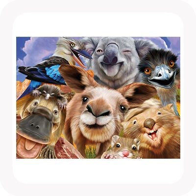 3D ANIMAL SELFIES PICTURE / PLACEMAT