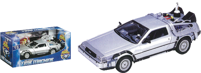 Back to the Future Part II - 1:24 Scale Die-Cast DeLorean Replica