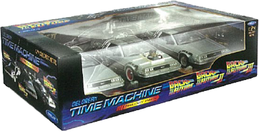 Back to the Future - 1:24 Trilogy Gift DeLorean Replica Set