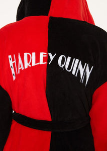 Batman - Harley Quinn Hooded Fleece Bathrobe