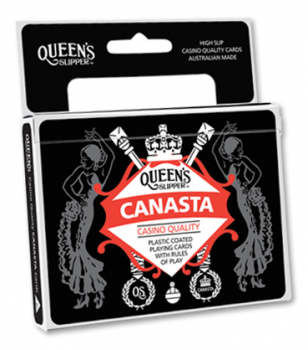 PLAYING CARDS QUEENS SLIPPER CANASTA