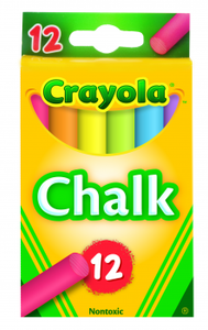 CHALK CRAYOLA COLOUR PKT 12