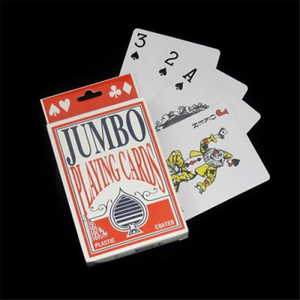 PLAYING CARDS JUMBO PLASTIC COATED
