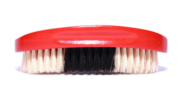 BEARDO'S MED/SOFT PALM CURVE WAVE BRUSH RED & GOLD