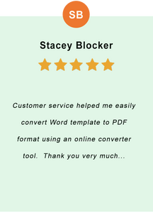 Stacey Blocker - feedback of our valued customer