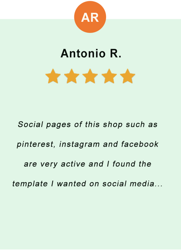 Antonio R. - feedback of our valued customer
