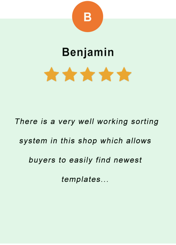 # Benjamin - feedback of our valued customer