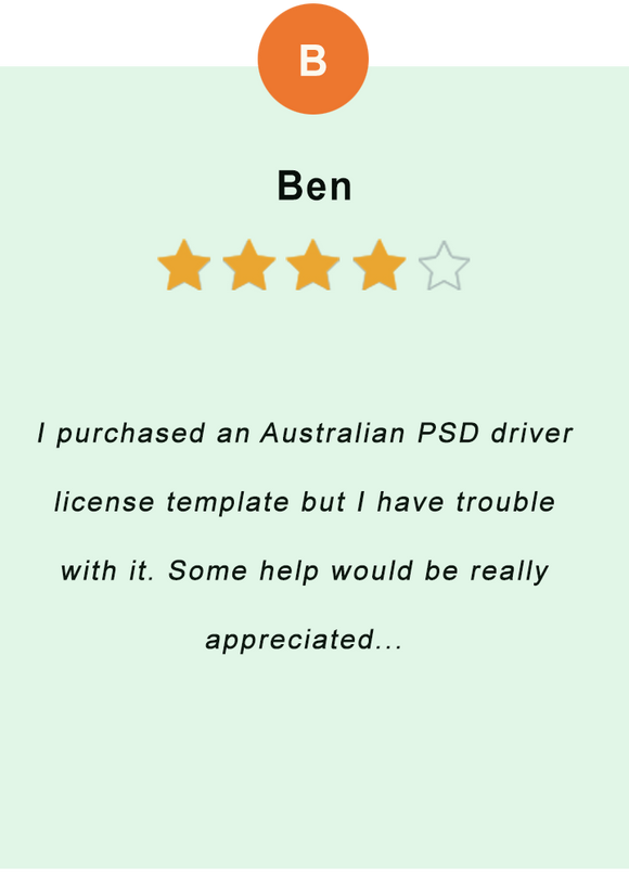 Ben - feedback of our valued customer