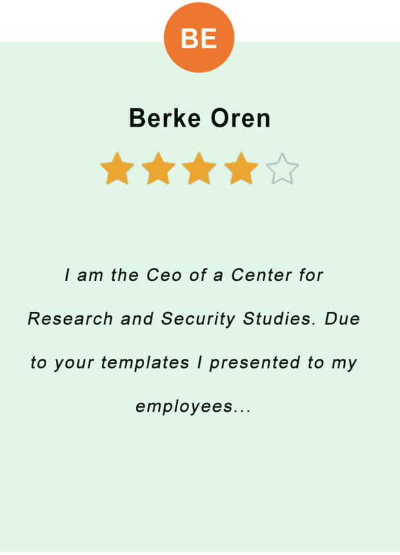 Berke Oren - feedback of our valued customer