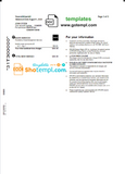 Canada Epcor electricity utility bill template in Word and PDF format, 3 pages