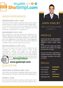 Modern Resume template in WORD format