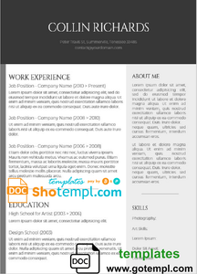 Editable CV Template in WORD format